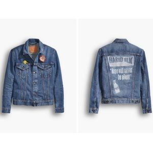 RARE Levi's x Harley Milk Pride Blue Denim Jacket